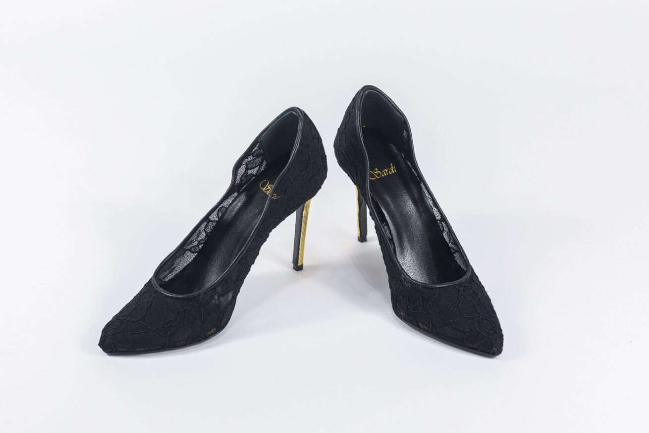 Sardi Shoes Donna Pizzo Nero