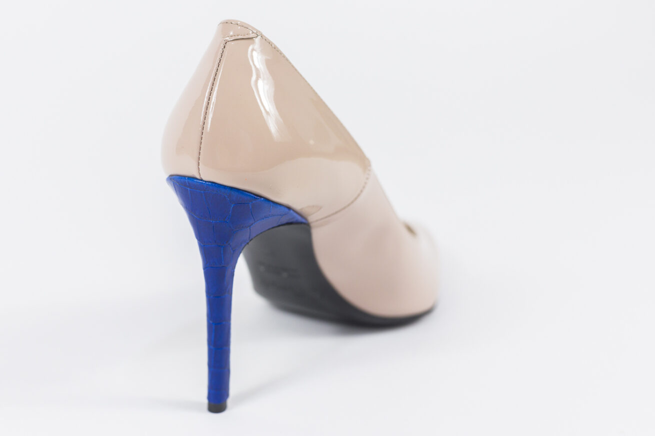 Sardi Shoes Donna Tacco Pitone Blue